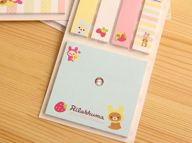【易奇宝】日韩文具 可爱创意拉拉熊便利贴