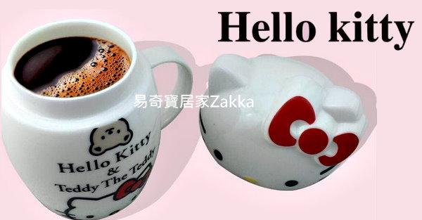 【易奇宝】日式创意卡通 可爱陶瓷大头杯400ml 蝴蝶 单入/随机